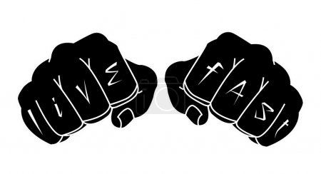 Fists with live fast tattoo