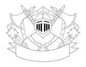 Medieval knight logo