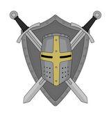 Two crossed swords and helmet