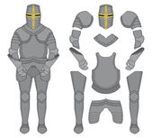 Medieval templar knight armor set