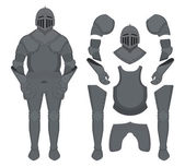 Medieval knight armor no outline