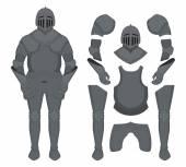 Medieval knight armor no outline