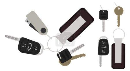 Set of realistic keys icons