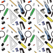 Stationery tools seamless pattern