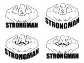Strongmen linear logo