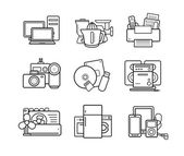 electronics group linear icons