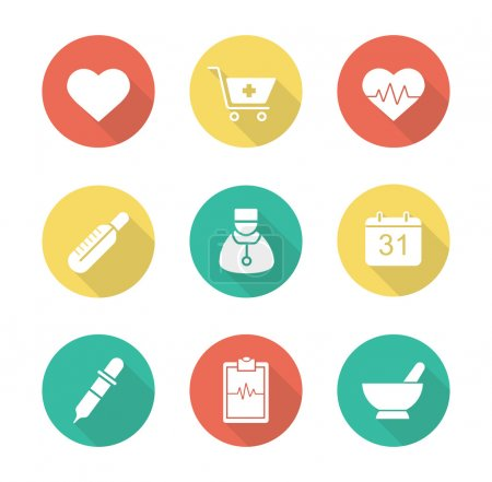 Medical, medicine icons set