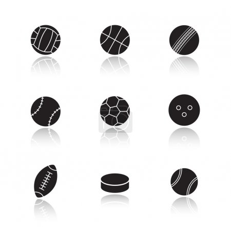 sports game balls icons