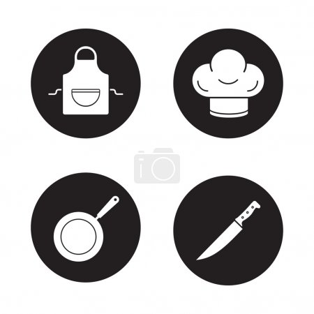 Cooking equipment icons set