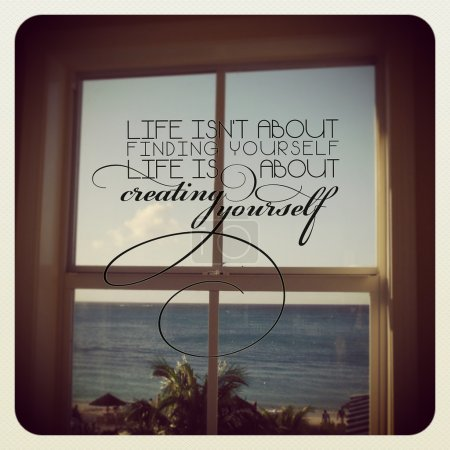 Inspirational Typographic Quote - Life isnt about finding yourse