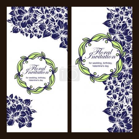 Greeting wedding invitation card