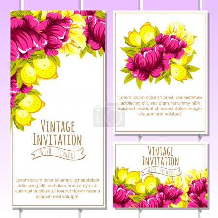 delicate invitation with flowers
