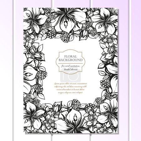 Black and white wedding invitation card