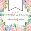 Vector illustration of a beautiful floral border w...