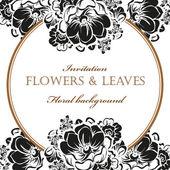 Květinové pozvání šablona