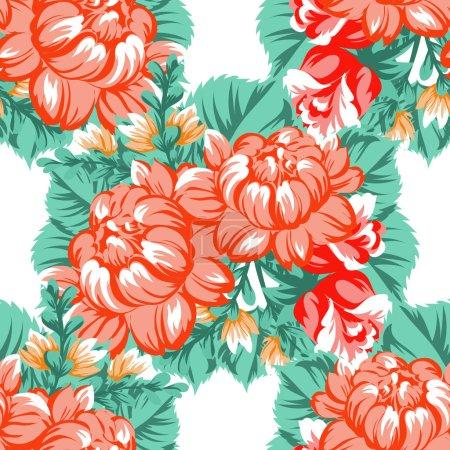 Seamless beautiful floral pattern
