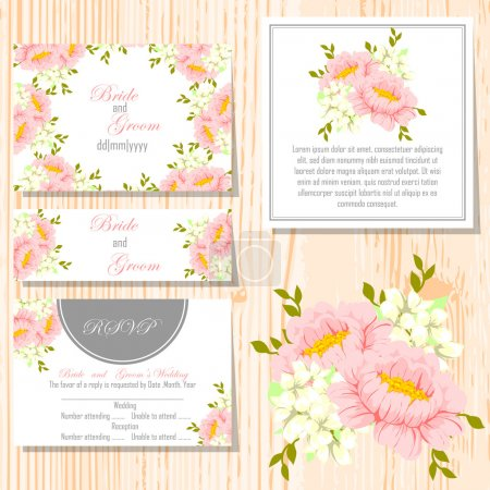 Set of invitations cards