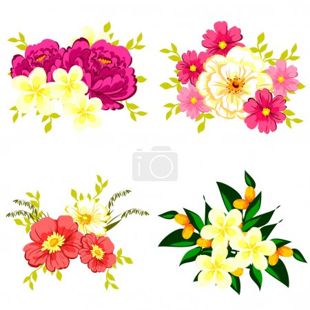 Set of different flowers