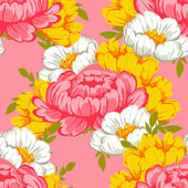 Modello senza saldatura con sfondo floreale