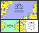 Pozvánka s květinové prvky