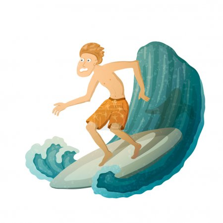 Scared Surfer
