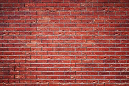 Wall from red bricks. Background, texture, red bricks.