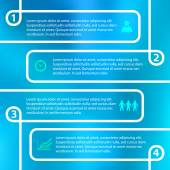 Modern style infographics design elements with lines & light blur on blue background Abstract shape Vector illustration eps 10