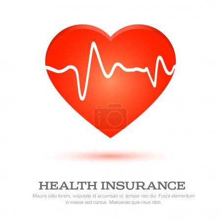 Illustration for Icon health insurance - Royalty Free Image