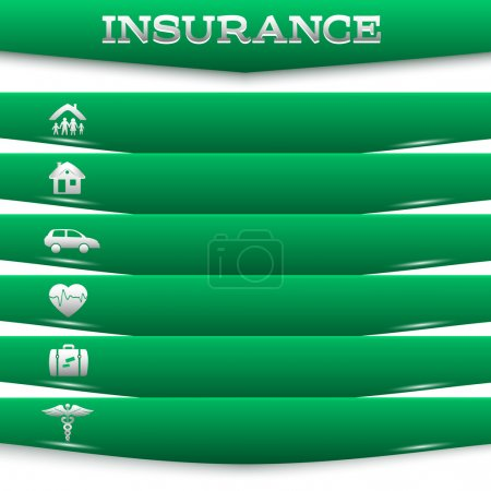 insurance-services-concept-on-white-background-green-stripe-card