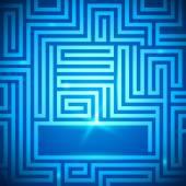 Maze-bright-light-dark-blue-background
