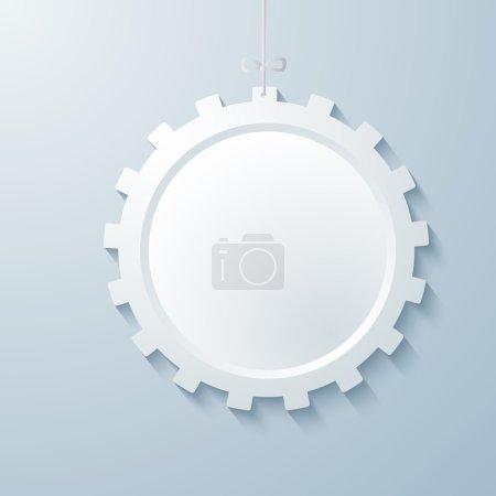Illustration pour Technologie abstraite élément de conception rouage icône. Illustration vectorielle eps 10. Peut utiliser pour la mise en page de brochure d'affaires, la conception de bannière Web, le magazine de couverture, le modèle de flyer, le fond de brochure publicitaire - image libre de droit