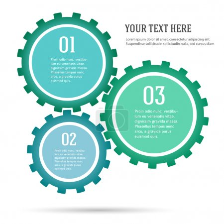Illustration for Abstract background with copy space in gears and cog wheel. Vector illustration use for business workflow layout, booklet cover, banner template, page magazine, advertising brochure design elements - Royalty Free Image