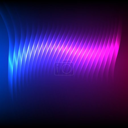 Illustration for Northern lights background of bright glowing blur lines. Vector illustration Eps 10. Futuristic style glow neon disco club or night party. Gorgeous graphic image template - Royalty Free Image