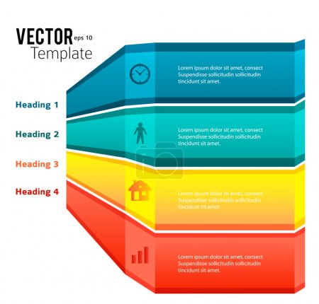 business template presentation infographics glowing stripes
