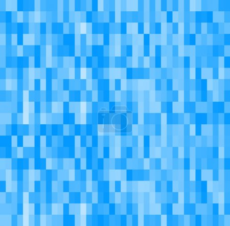 mosaic glowing rectangle geometric blue background