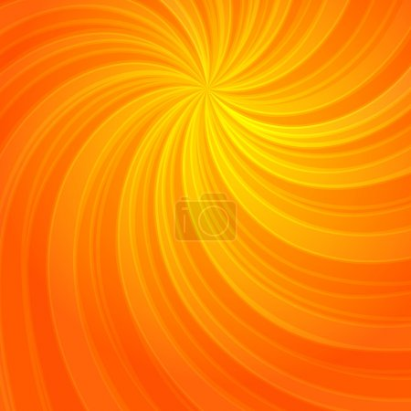 Illustration for Summer background with orange yellow rays summer sun hot swirl with space for your message. Vector illustration EPS 10 for design presentation, brochure layout page, packing label - Royalty Free Image