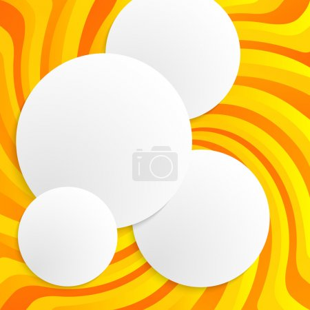 yellow spiral twist background circle 3d