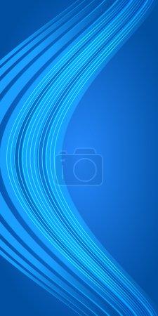 Vertical banner blue light background bending line