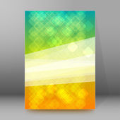Abstract mosaic background brochure cover page layout