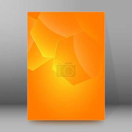 hexagon shape background brochure cover page layout