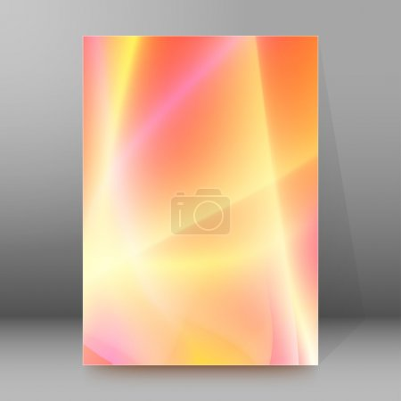 Lights peach background report title page booklet layout