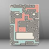 maze background brochure cover page layout