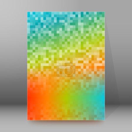 Advertisement flyer design elements. Mesh rainbow ...