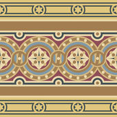 Seamless vintage ornamental border