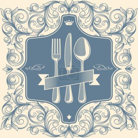Illustration pour Menu design vintage rétro - image libre de droit