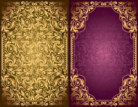 Illustration for Vintage ornate blank - Royalty Free Image