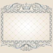 Retro ornate frame