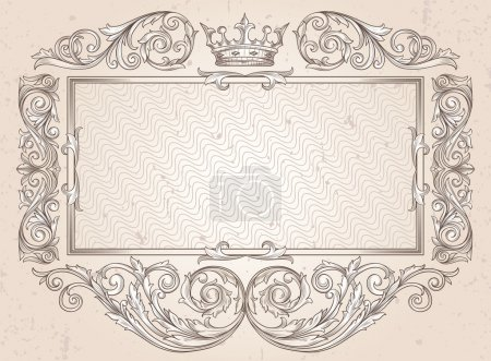Vintage ornate blank