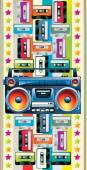Boom box and cassettes