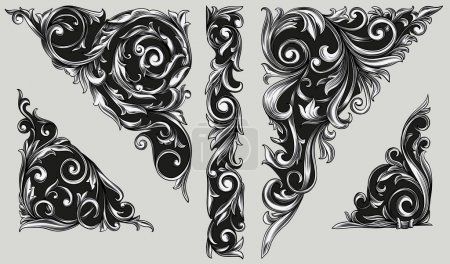 Decorative ornate design elements